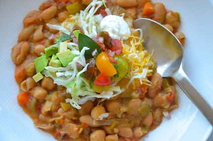Roasted Corn White Bean Chili