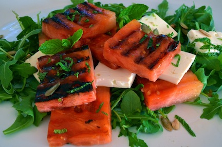 Cooking with Kids: Grilled Watermelon Feta Salad