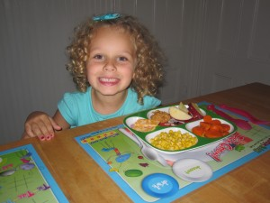 Anna with placemat
