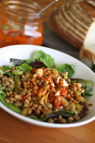 Cooking with Kids: Lentil Salad with Roasted Red Pepper Dressing
