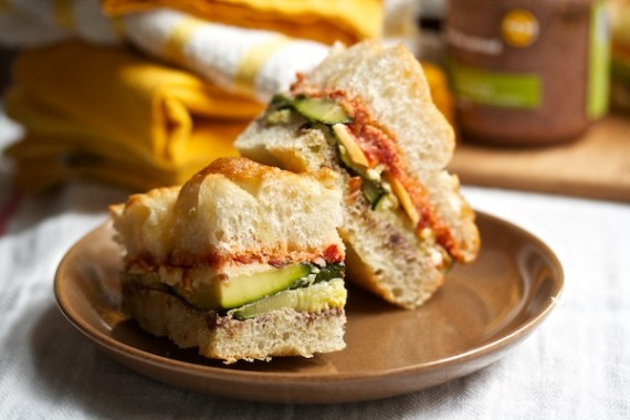 Roasted Veggie Sandwiches with Sundried Tomato Pesto