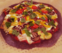 The Pizza Eater's Purple Pizza