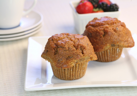 These yummy muffins are packed with healthy ingredients brimming with ...