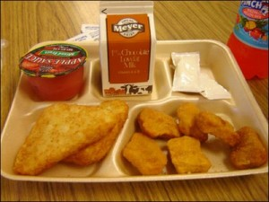 school lunch tray